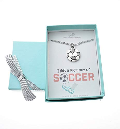 Soccer Charm Pendant In Silver Plated Pewter On A Stainless Steel Chain, Soccer Gifts, Soccer Charms, Soccer Necklace