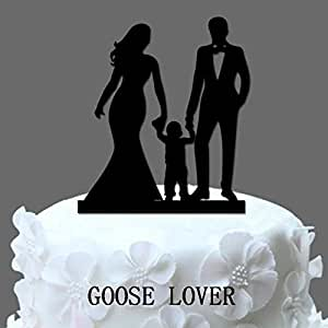 funny family wedding cake toppers goose lover tm acrylic wedding cake topper 14544