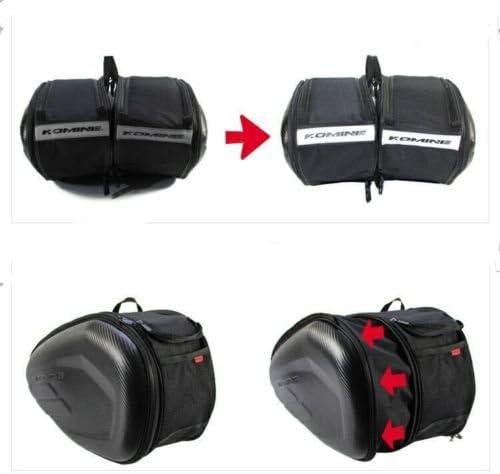 Saddle Bag TBVECHI Black Motorcycle Rear Seat Luggage Saddle Bag Large Capacity Multi-use Expandable Motorcycle Rear Seat Saddle Bags