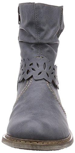 Rieker Z4160 Damen Halbschaft Stiefel Blau (jeans / 14)