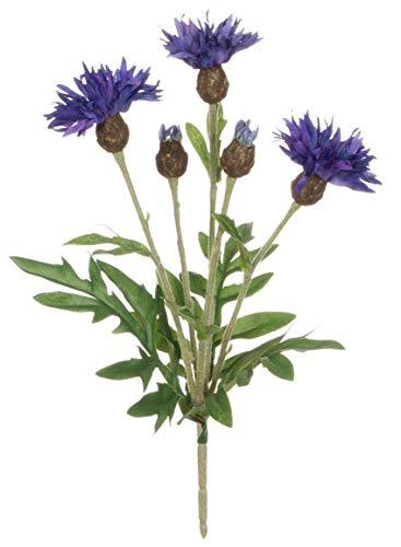 Sullivans Star Thistle Artificial Flowers in Blue Purple - 10