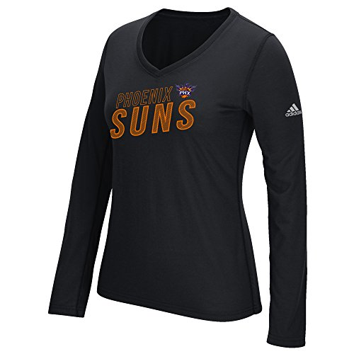 fan products of NBA Phoenix Suns Women's Stacked Long Sleeve Ultimate Tee, Large, Black