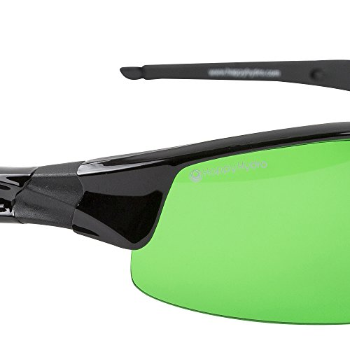 Happy Hydro LED UV Protective Glasses with Green Lenses for Grow Room Hydroponics by Happy Hydro (Image #3)