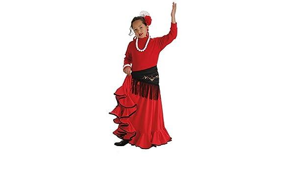 LLOPIS - Disfraz Infantil Falda rociera roja t-3: Amazon.es ...