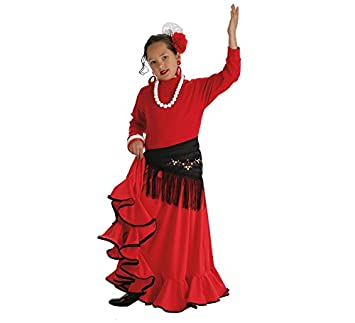 LLOPIS - Disfraz Infantil Falda rociera roja t-0: Amazon.es ...