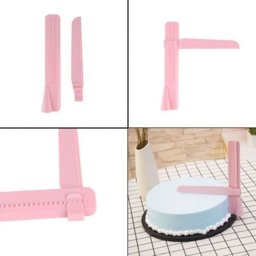 Hot Adjustable Fondant Cake Scraper Icing Piping Cream Spatula Edges Smoother