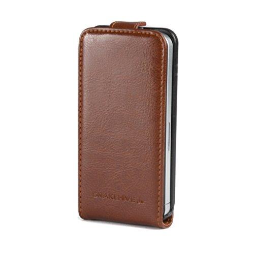 ne 4 / 4S Premium Leather Flip Case Cover for Apple iPhone 4 / 4S (Tan) ()