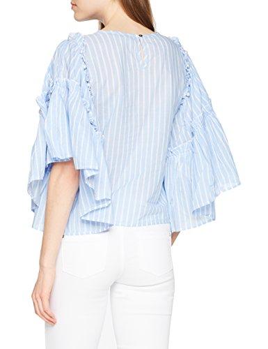 Blu Sleeve Camicia Onlhala Donna Light Blue Only Denim Qyt Big Light Frill DNM Top Blue Denim 1BEwzEx0