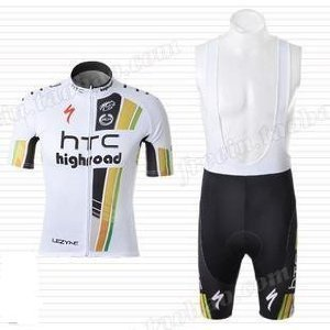 20fcd6643fb 2011 HTC Columbia Team Short Sleeves Cycling Jersey with Bib  Shorts(available Size  M