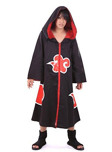 Deidara Akatsuki Costume (SDWKIT Naruto Shippuden Deidara Kisame Sasori Pain Akatsuki Member Cloak)