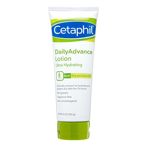 Cetaphil DailyAdvance Ultra Hydrating Lotion for Dry/Sensitive Skin 8 oz (Pack of 3)