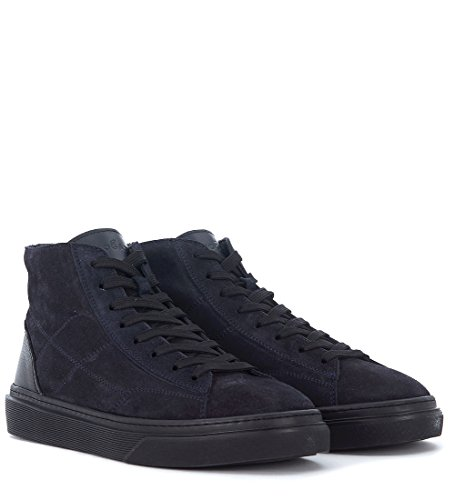 Hogan Sneakers 340 Hi-Top in Suéde Dunkelblau und Leder Blue
