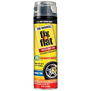 Fix-A-Flat S60430 Aerosol Tire Inflator with Eco-friendly Formula, 20 oz.