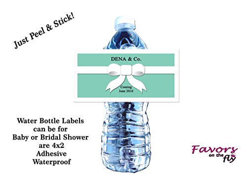 Ultrasound Baby Shower Invitations - 30 Blue Name & Co. Baby Shower Water Bottle Labels, Bubble Labels, Wine Bottle Labels 4x2