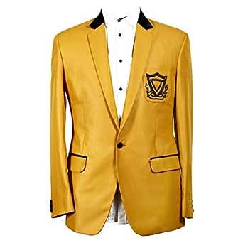 Libas Riyaz Gangji Gold Cotton Blazer For Men