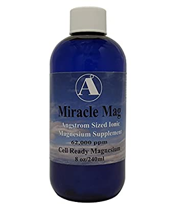 Best Magnesium Supplement - Miracle Mag Concentrated magnesium 62,000ppm/mgL - 8oz Bottle Angstrom Magnesium derived from Magnesium Chloride