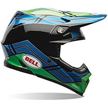 Bell Helmets Unisex-Adults Style Bell Moto-9 Off-Road Motorcycle Helmet (Airtrix Stance Blue/Green, XX-Large)