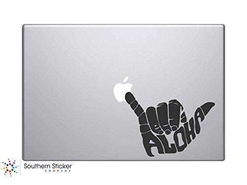 Aloha Shaka Hand Gesture Hawaii Surfer Vinyl Car Sticker Silhouette Keypad Track Pad Decal Laptop Skin Ipad Macbook Window Truck (Surfer Silhouette)