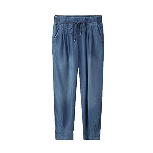 Mezclilla En De Banda Desteñida Jeans Elástica ADEMI Blue2 Desteñida De Elásticos Jeans Mujer pqUHZnI