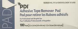 """B16400 Remover Tape Pads Adhesive 1-1/4x2-5/8"""" 100 Per Box Part No. B16400 by- PDI Professional Disposables"""