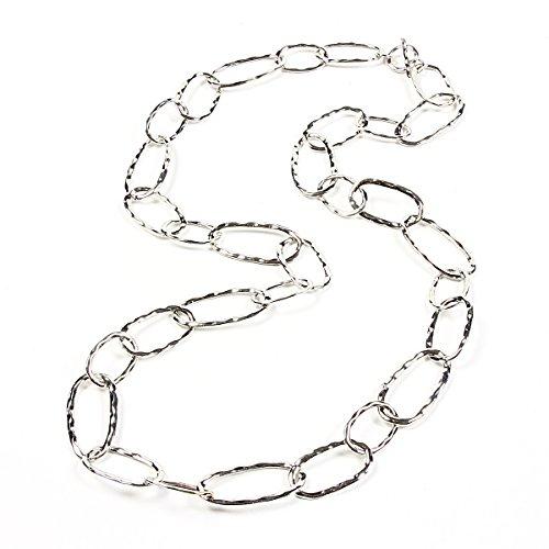 Amrita Singh Hammered Loop Necklace Silver by Amrita Singh