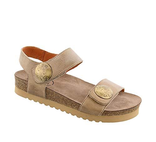 - Taos Footwear Women's Luckie Taupe Sandal 8-8.5 M US