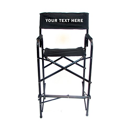 PERSONALIZED IMPRINTED All Aluminum 30'' Standard Directors Chair by E-Z Up - Black by International E-Z UP, Inc