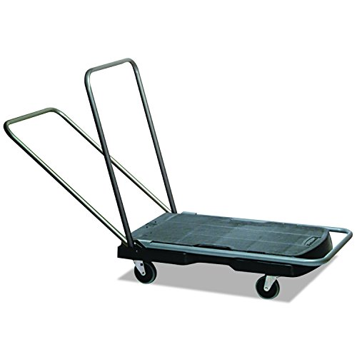 Rubbermaid Commercial Tripple Trolley Utility-Duty Home/Office Cart, 250 lb Capacity, 20 1/2'' x 32 1/2'', Black (FG440000BLA) by Rubbermaid Commercial Products