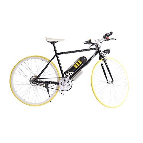ELECTRIC Fixie Bike 350W 33MPH Alien Motor Wheels TM (BLACK/YELLOW/WHITE/BLACK)