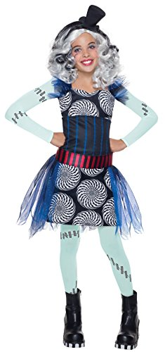 Bride Child Costumes Frankenstein Of (Rubie's Costume Monster High Freak Du Chic Frankie Stein Child Costume,)