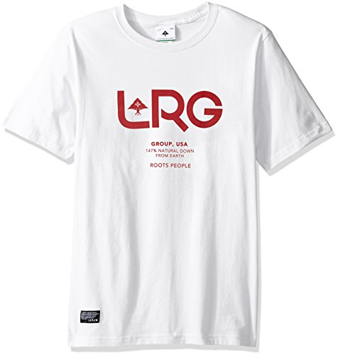 LRG Men's Big and Tall Rootspeoplegroup Tee, White, 4XL