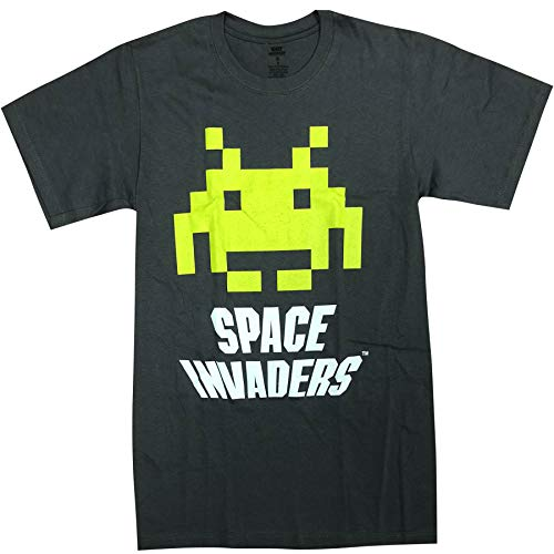 Officially Licensed Men's Space Invaders T-shirt, Gray