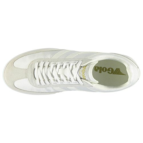 Gola Harrier Super Baskets pour homme Blanc/Blanc Chaussures Casual Sneakers Chaussures