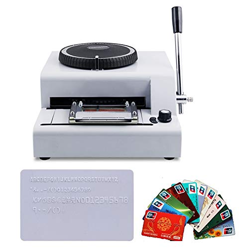 72-Character PVC Card Embosser Stamping Machine Credit Id VIP Magnetic Embossing by 72-Character Letters Manual Embosser Credit ID PVC Card VIP Embossing Machine (Image #8)