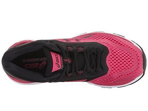 ASICS Womens GT-2000 6 Running Shoe, Bright Rose/Black/White, 11 B(M) US