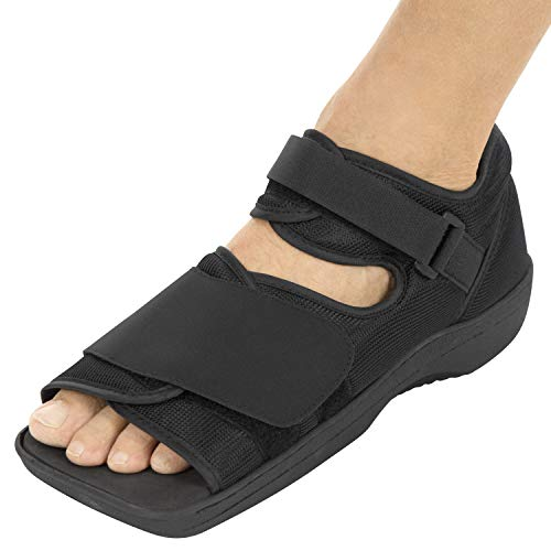 Vive Post Op Shoe - Lightweight Medical Walking Boot withAdjustable Straps - Post Injury Surgical Foot Cast - Durable Square Toe Orthopedic Support Brace for Broken Bone - Men, Women Fracture Recovery ()