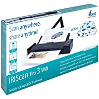 IRIScan Pro 3 Wifi Portable Mobile Document Image Color Mobile Scanner With Paper Tray