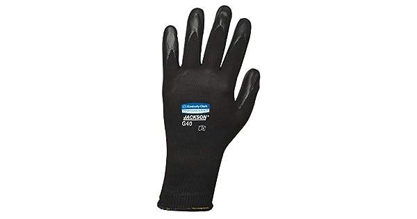 1 Negro Jackson safety G40/con revestimiento de poliuretano guantes de uso general L