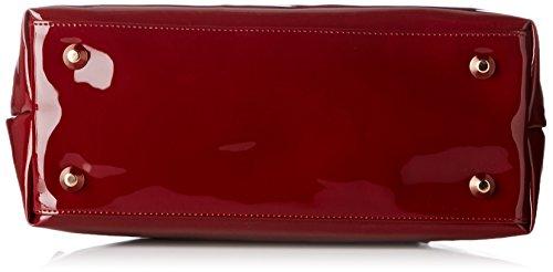 La Bagagerie Shop N, Bolso de asas, Mujer, Talla única, Rojo (Bordeaux)