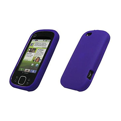 Premium Purple Silicone Gel Skin Cover Case for Motorola CLIQ XT / Quench [Accessory Export Brand - Skins Quench