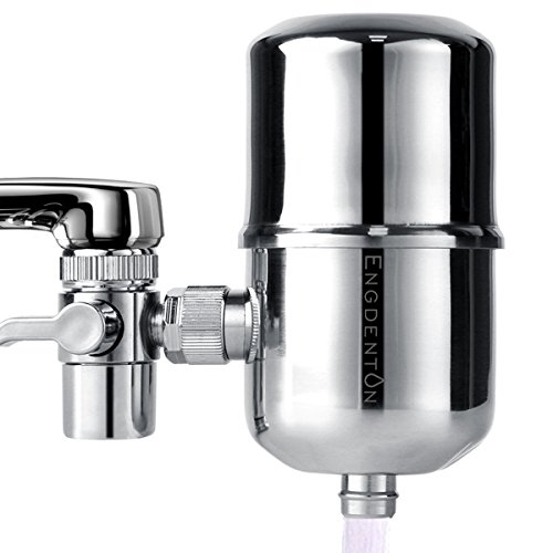 Engdenton Faucet Water Filter with Ultra Adsorptive Material, Water Purifier Stainless-steel No-cracking No-leakage, water filters for faucets-Fits Standard Faucets by Engdenton
