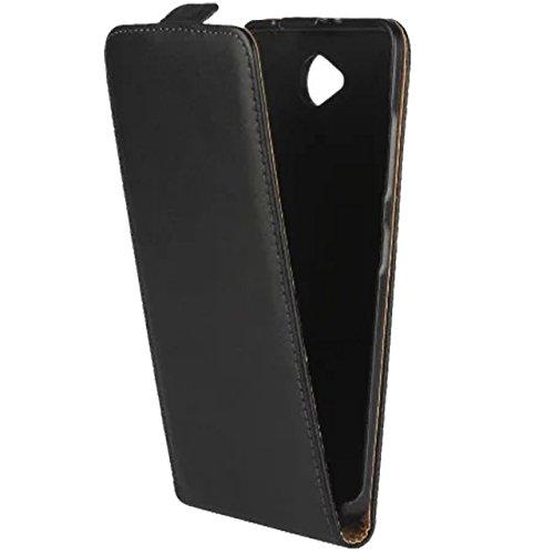 2 opinioni per Con supporto., Pelle, Up Down Flip Case- Black, Lumia 650
