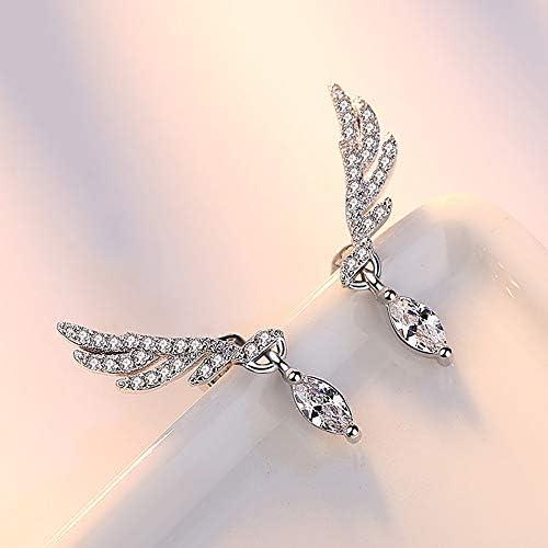 Boho Earrings High Fashion Earrings White Earrings White Ear Cuff Sterling Silver Ear Climber Magnesite Earrings