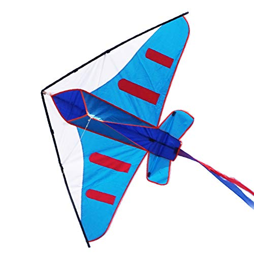 Besra 60inch Colorful Plane Kite Easy to Fly Aircraft Nylon Kite for Kids & Adults (Blue)