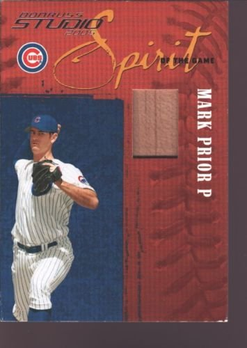 MARK PRIOR 2005 DONRUSS STUDIO GAME USED BASEBALL BAT SP CHICAGO CUBS /300 (Mark Prior Cubs 2005 Game)