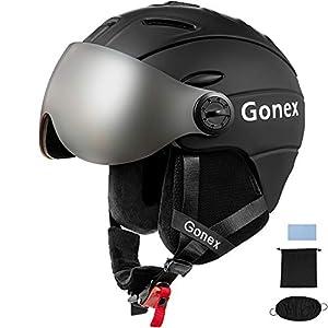 Gonex Casque de Ski Snowboard avec Masque Détachable pour Adulte Homme Femme Protection Ski CE MS-95