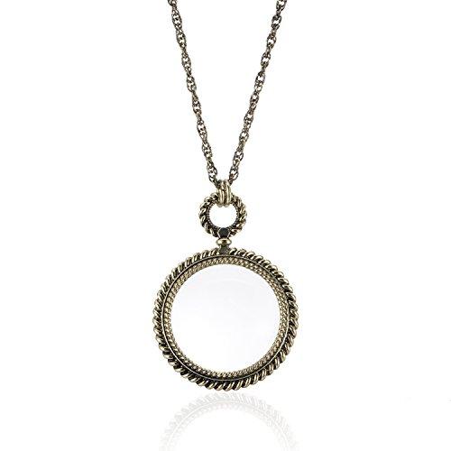 Zhenhui Vintage Magnifying Pendant Necklace