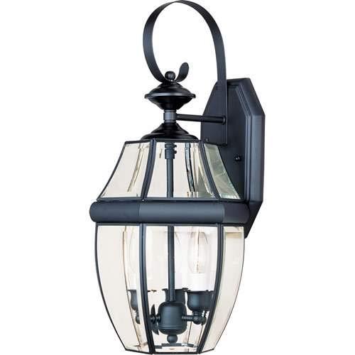 Maxim Lighting South Park Black 3-Light Outdoor Wall-Mounted Lantern 4191CLBK