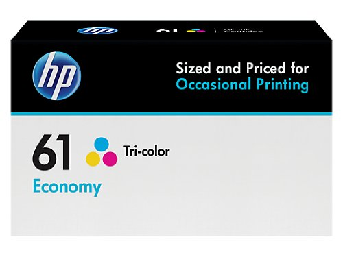 HP 61 Ink Cartridge Tri-color Economy (B3B08AN) for HP Deskjet 1000 1010 1012 1050 1051 1055 1056 1510 1512 1514 1051 2050 2510 2512 2514 2540 2541 2542 2543 2544 2546 2547 3000 3050 3051 3052 3054 (Ink Deskjet Cartridges 2544 Hp)