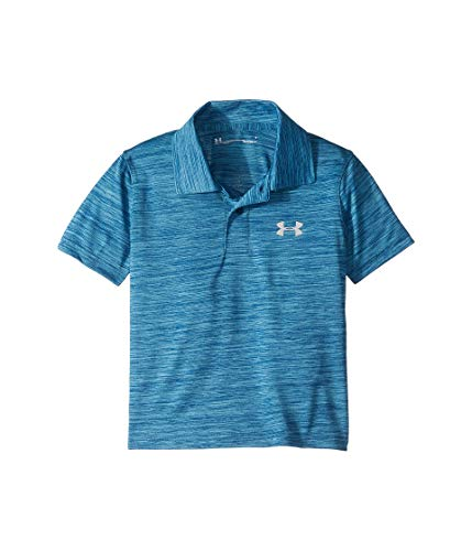 Under Armour Kids Boy's Match Play Twist Polo (Little Kids/Big Kids) Petrol Blue 6